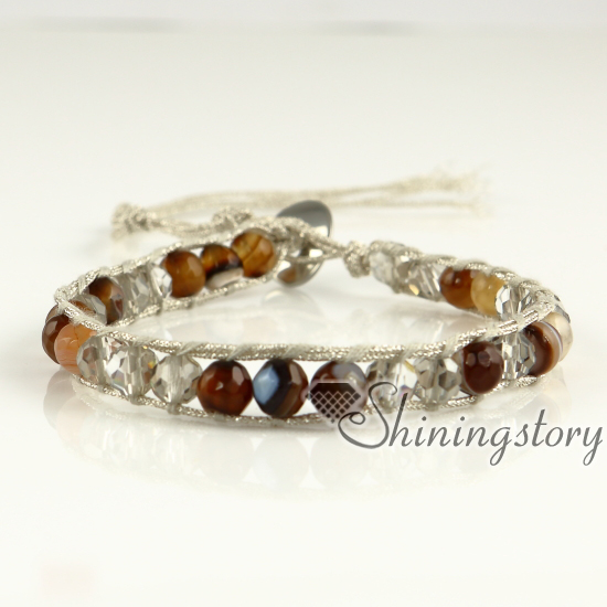 Beaded Wrap Bracelet Handmade Bracelets Women S Leather Bead For Mens Mocuba Cords