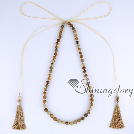 spiritual beads jewellery jewelry mala bohemian yoga gypsy healing boho with tassel necklaces wholesale necklace