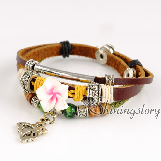 butterfly leather bracelets wholesale leather wrap. Black Bedroom Furniture Sets. Home Design Ideas