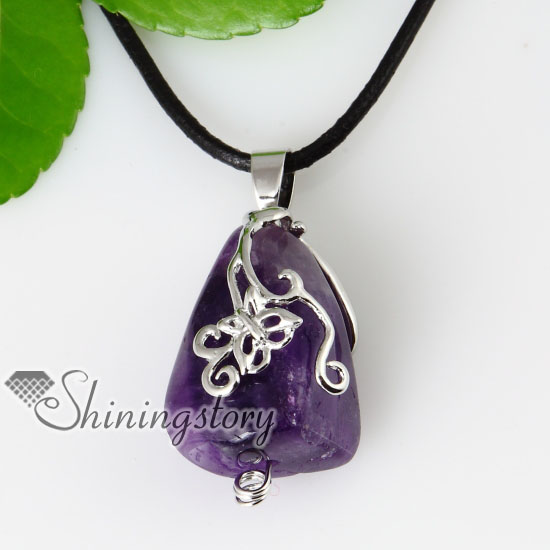 Semi Precious Stone Amethyst Necklaces