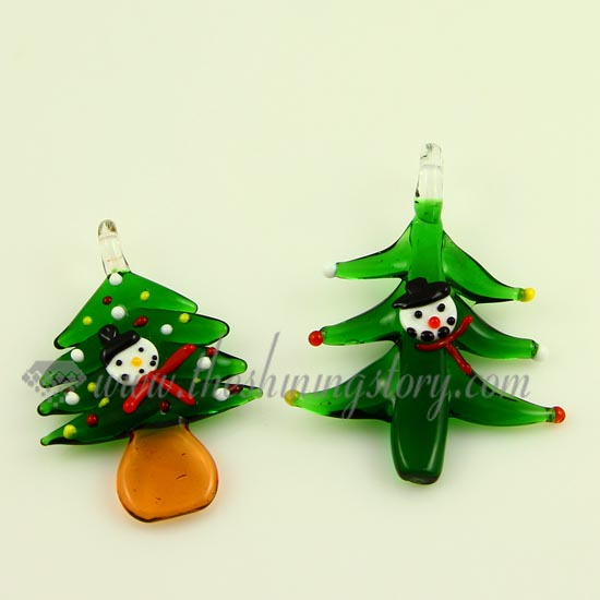 Christmas tree lampwork murano glass necklaces pendants jewelry christmas tree lampwork murano glass necklaces pendants jewelry green aloadofball Image collections