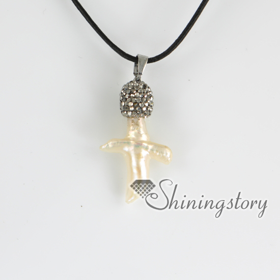 Cross fresh water pearl pendants christian cross pendant necklace cross fresh water pearl pendants christian cross pendant necklace rhinestone pave necklaces rhinestone imitated pearls cross aloadofball Images