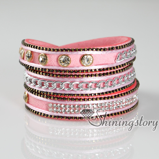 crystal bling leather design stardust wrist rhinestone bands b bracelet bracelets