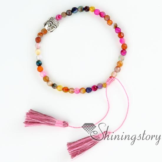 Budda Bracelets With Tels Buddha Bracelet Prayer Beads Charm For S Yoga Jewelry Tel Adjule Beaded