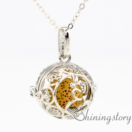 Flower ball metal volcanic stone aroma stone essential oil flower ball metal volcanic stone aroma stone essential oil necklace diffuser pendant locket necklace wholesale essential aloadofball Gallery