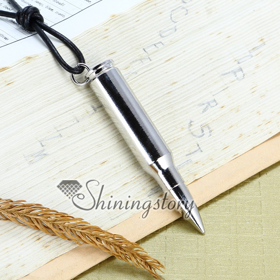 Genuine leather antiquity silver bullet pendant adjustable long genuine leather antiquity silver bullet pendant adjustable long necklaces design a aloadofball