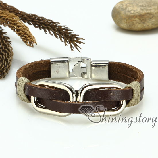 Genuine Leather Bracelets Unisex Bracelets For Men And Women