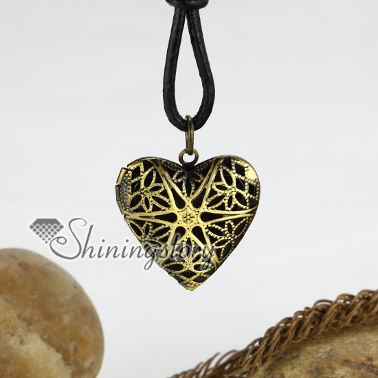 Genuine leather copper locket heart flower adjustable long pendants genuine leather copper locket heart flower adjustable long pendants necklaces antique punk gothic styole design a aloadofball Choice Image