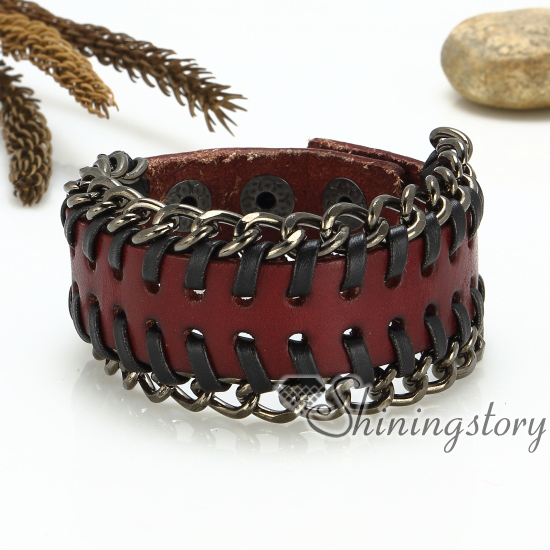 genuine leather wristbands handmade leather bracelets with