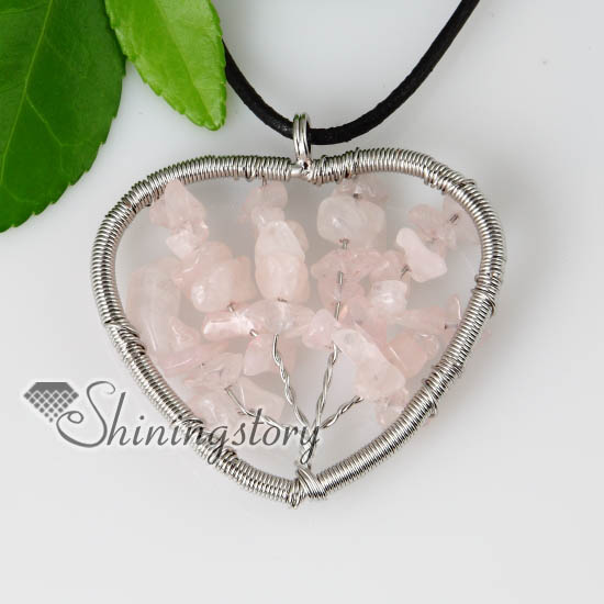 Heart round semi precious stone rose quartz necklaces pendants wholesale heart round semi precious stone rose quartz necklaces pendants design a mozeypictures Image collections