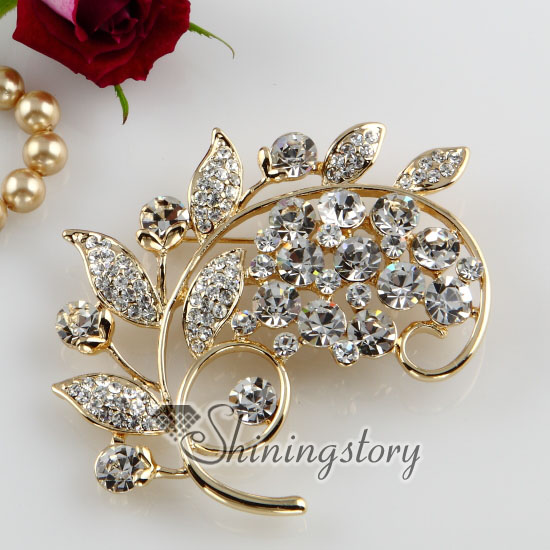Brooch Pins Fashion Foliage Shape Large Vintage Wedding Bridal Brooch Pendant Scarf Pins bPzFNESDMK