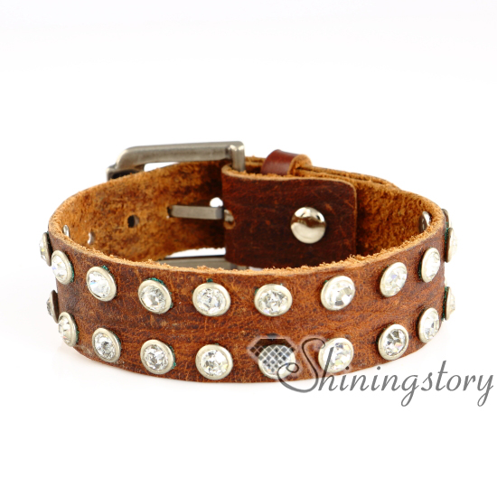 Leather Bracelets Whole Charm Online Custom Charms For Rhinestone Genuine