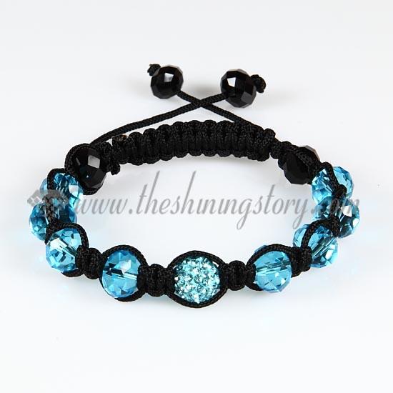 macrame disco ball pave beads crystal bracelets jewelry armband wholesale 4c20f96a727a0