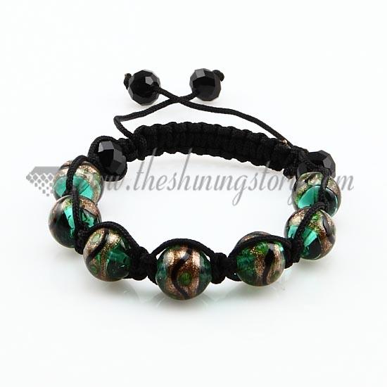 Famous macrame glitter venetian glass beads bracelets jewelry armband  KH18