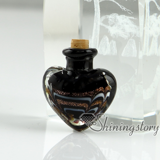 color pendant stars bottles products necklace with custom colo collections black glitter tiny bottle lace glass original