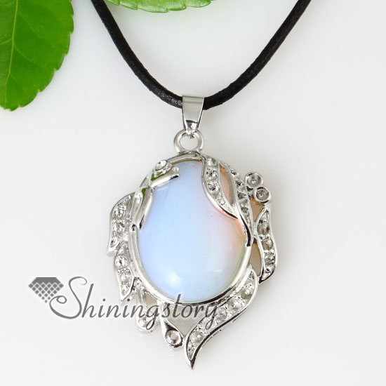 Oval rose quartz glass opal tigers eye agate necklaces pendants oval rose quartz glass opal tigers eye agate necklaces pendants design a aloadofball Images