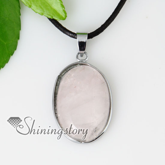 Oval semi precious stone rose quartz amethyst necklaces pendants oval semi precious stone rose quartz amethyst necklaces pendants design b aloadofball Gallery