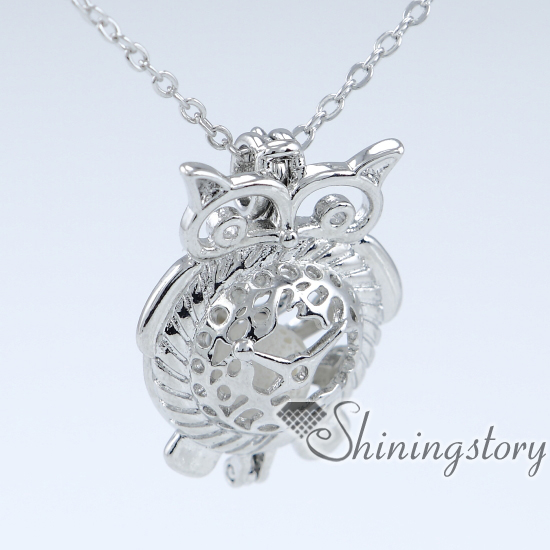 owl wholesale locket pendants pearl locket lava stone essential oil necklace aromatherapy pendant wholesale oil diffuser necklace