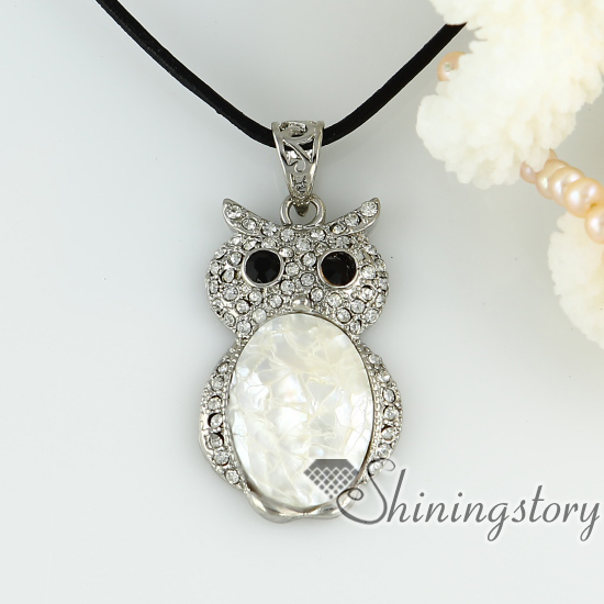 Oyster sea shell pendants night owl patchwork rhinestone necklaces oyster sea shell pendants night owl patchwork rhinestone necklaces other of pearl jewellery design c aloadofball Choice Image