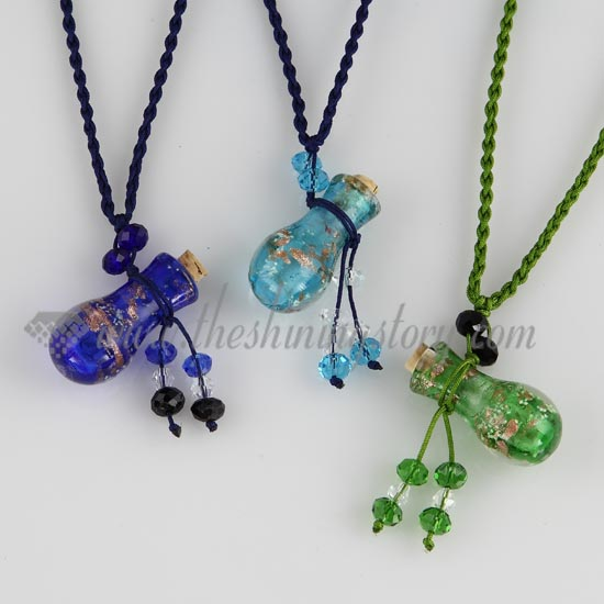 image glass product supernatural pentagram necklace chain pendant products protection bottle angel wing wishing