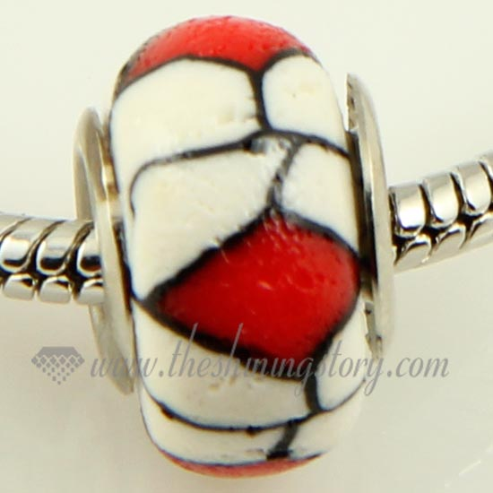polymer clay large hole beads for fit charms bracelets