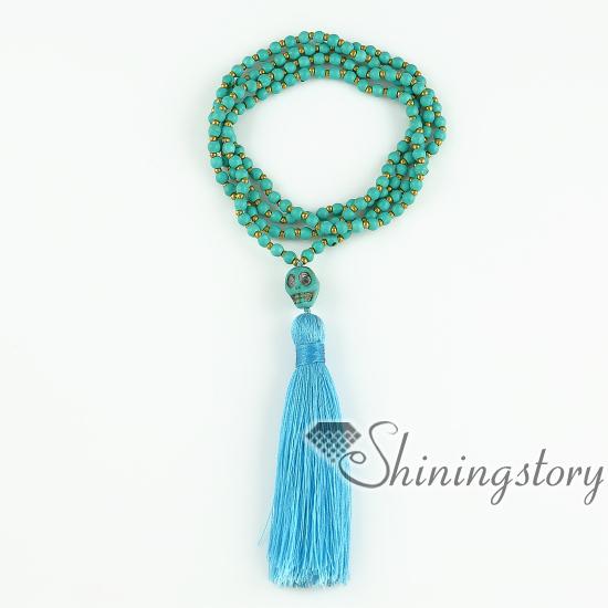 Prayer Beads Beaded Bracelets Jewelry Meditation Yoga Bead Wrap Necklace Non Stretchable Design
