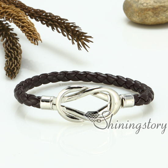 Reef Knot Genuine Leather Bracelets Handcrafted Knotted Handmade Jewelry Design A