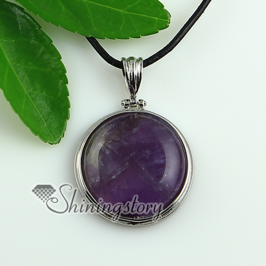 Natural Stone Pendants Round amethyst natural stone turquoise glass opal natural semi round amethyst natural stone turquoise glass opal natural semi precious stone pendants for necklaces design a audiocablefo
