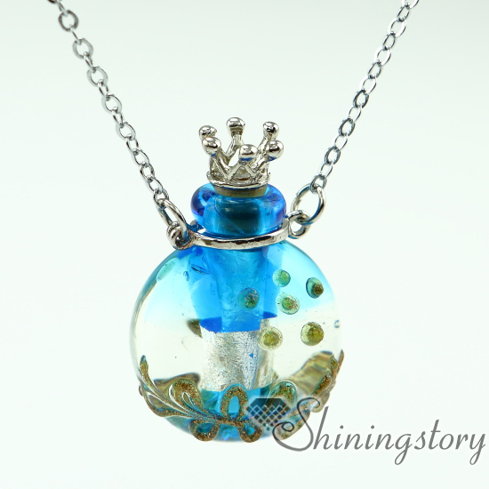 necklace pendant jewelry essential lampwork bottle product butterfly custom glass bottles from perfume vial vials oil