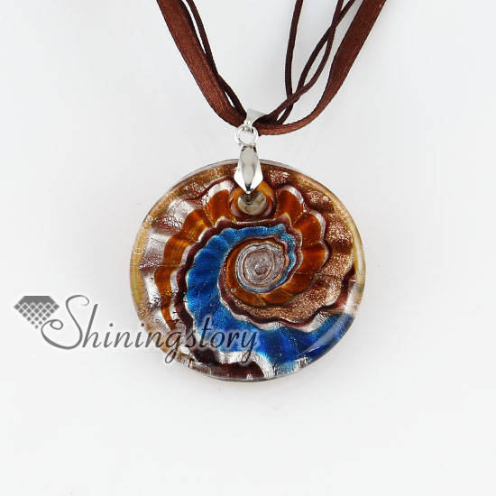 Round glitter swirled pattern lampwork glass pendants necklaces round glitter swirled pattern lampwork glass pendants necklaces design a aloadofball Image collections