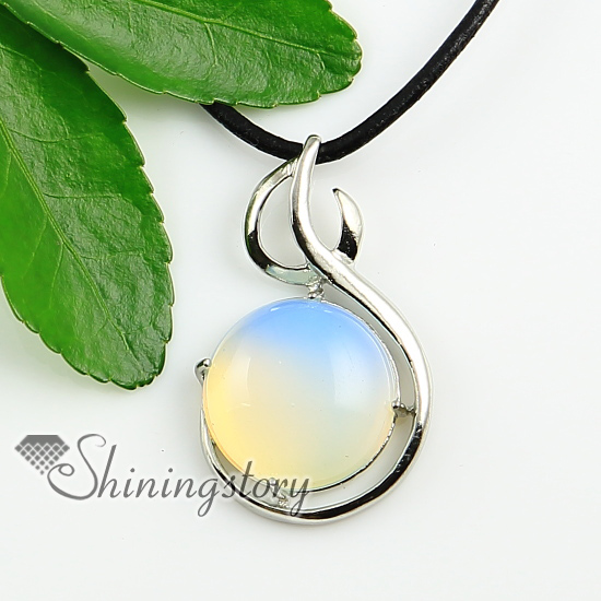 Round open work semi precious stone rock crystal agate glass opal round open work semi precious stone rock crystal agate glass opal natural semi precious stone pendant aloadofball Gallery