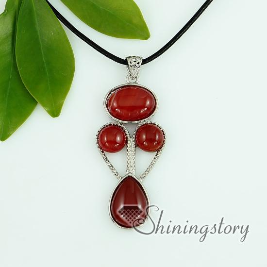 c4b73bf819d074 tiger's-eye amethyst rose quartz agate jade necklaces with pendants  openwork oval teardrop round design