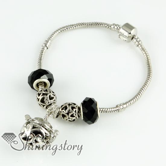 Vine Openwork Essential Oil Diffuser Pendant Aromatherapy Bracelet Locket Charm Bracelets Design A