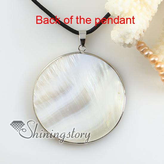 Yinyang round white penguin seashell mother of pearl oyster sea yinyang round white penguin seashell mother of pearl oyster sea shell pendant necklaces wholesale aloadofball Gallery