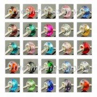 1000pc european crystal big hole beads for fit charms bracelets