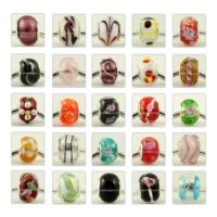 1000pc lampwork glass beads for fit charms bracelets