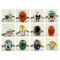 100pc murano glass animal beads for fit charms bracelets