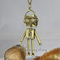 Brass antique long chain necklaces