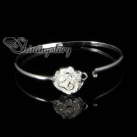 925 sterling silver filled brass rose bangles bracelest