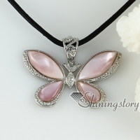 abalone sea shell pendants butterfly necklaces mop jewellery