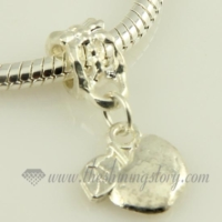 apple silver plated european big hole charms fit for bracelets