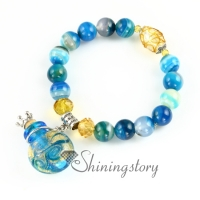aromatherapy inhaler lampwork glass essential oil bracelet
