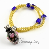 aromatherapy jewelry scents lampwork glass essential oil bracelets