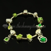 charms bracelets with european enamel big hole beads