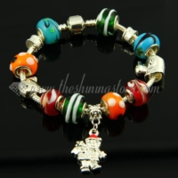 charms christmas bracelets with european murano glass beads