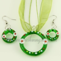 christmas venetian murano glass pendants and earrings jewelry