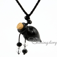 cone lampwork glass essential oil necklace diffuser necklaces essential oil diffuser pendant necklace vials perfume bottle
