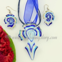 cross lines venetian murano glass pendants and earrings jewelry