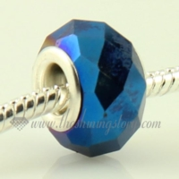 crystal large hole beads for fit charms bracelets