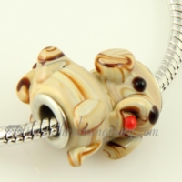 dog murano glass big hole beads for fit charms bracelets